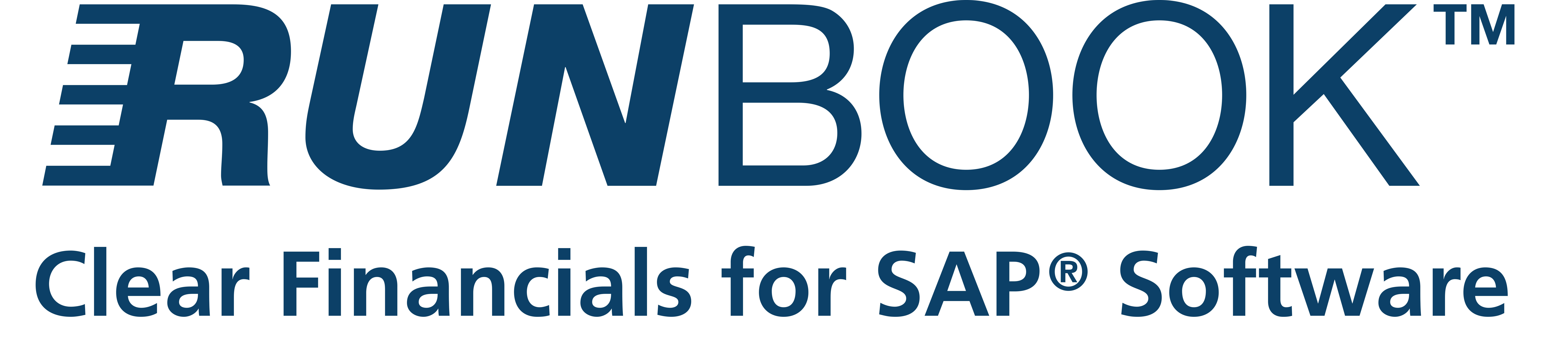 Logo Runbook Clear Financials for SAP Software Blue nieuwe kleur