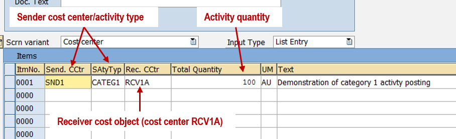 Activity Postings 2: Category 1 Activity Types and Posting - ERPCorp